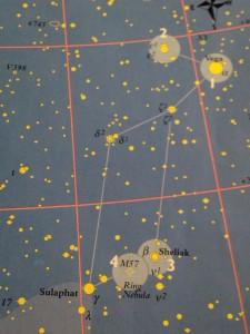 Lyra med bl.a M57 ( ringnebulosan )