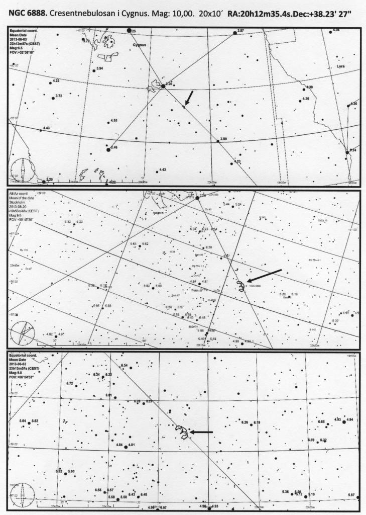 Crescentnebulosan observationsblad 1och 2