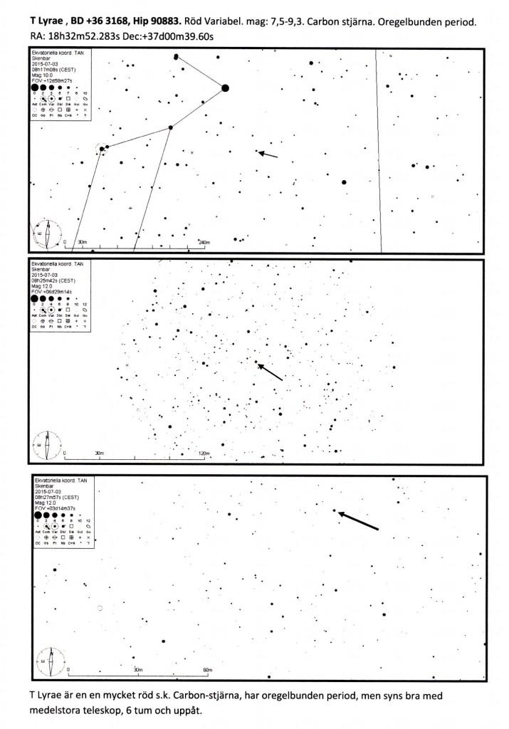 Observationsblad av T Lyran